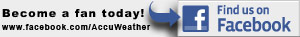 Find AccuWeather on Facebook