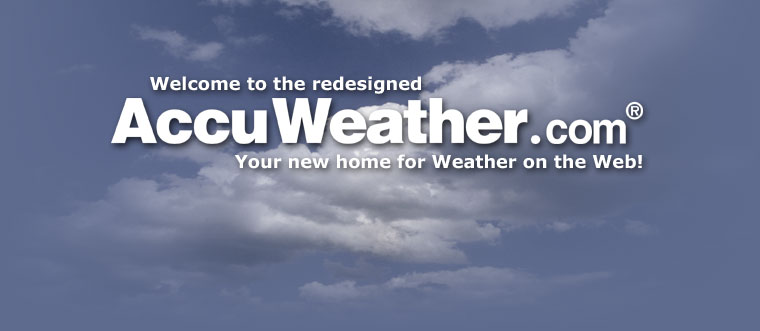 Welcome to the New AccuWeather.com!