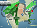 Rain will affect parts of the Northeast this weekend