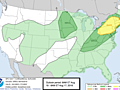Northeast: Thunderstorms through tonight, then less hunid