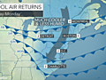 Northeast: Warm through Friday, then cooler