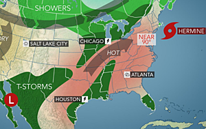 Southeast mostly quiet this week, focus shifting to TX/OK