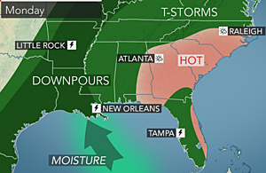 More flooding concerns this week as heat eases in parts of the Southeast