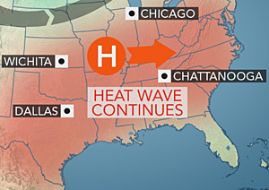 Hot this weekend, hot next week for most, too