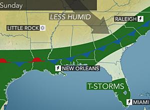 Southeast heat easing, wetter pattern ensues for most