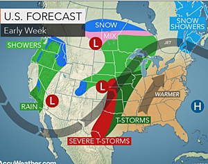 Prolonged wet spell coming with flooding and severe storms