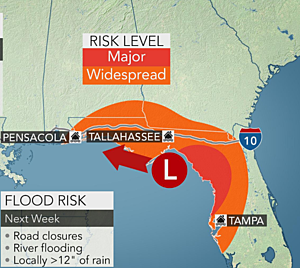 Southeast flood risk, Texas heat wave, watching tropical critters