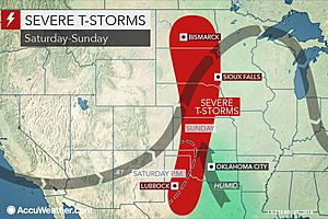 Heavy to severe storms across the High Plains