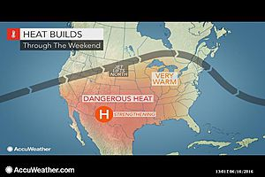 Heat, severe storms and maybe tropical troubles