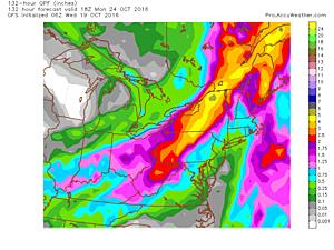 Heavy rain event for the Northeast