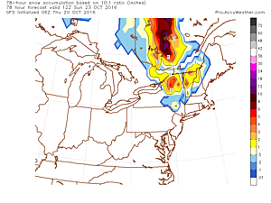 Major October storm to bring heavy rain and snow