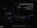 Quadrantids Peak Sunday Night with 120 Meteors per Hour