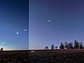 Thin Crescent Moon Forms Celestial Triangle with Mercury and Venus