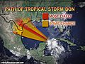 Tropical Storm Don: Landfall in Texas Friday Night