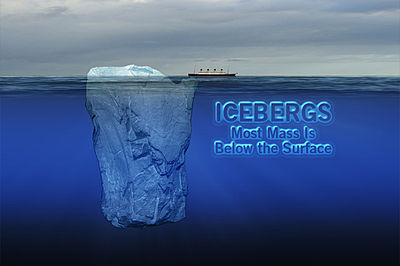 icebergs most mass is below the surface