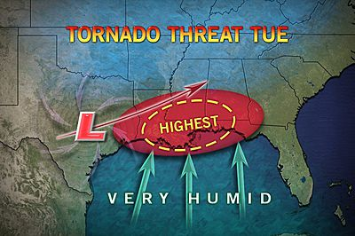 christmas tornado threat