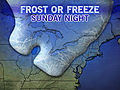 Cold Wave, Frost, Freeze for Midwest, East
