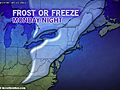 Frost, Freeze Risk for New England, Mid-Atlantic
