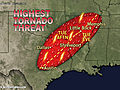 Dallas to Memphis at Greatest Risk for Tornadoes Tuesday