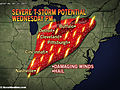 Severe Weather Moves into Detroit, Cincinnati Wednesday