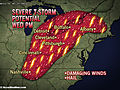 Severe Weather Targets Detroit, Cleveland, Albany Wednesday