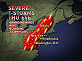 Severe Storms From Washington DC to New York City