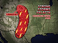 Risk of Damaging Storms in the High Plains, Texas Friday