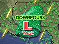 Tropical Downpours Aim at Mobile, Pensacola