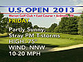 Severe Storms, Rain Suspend US Open at Merion