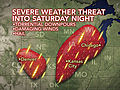 Severe Storms From Denver to Chicago