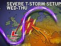 Severe Thunderstorm Threat to Germany, France