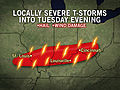 Severe Storm Risk for Ohio Valley Tuesday Evening