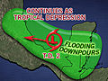 Tropical Depression Two Strengthening, Barry Possible