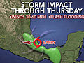 Tropical Storm Barry Lands in Veracruz, Mexico