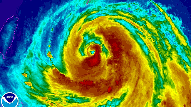 Typhoon Soulik (image credit: NOAA)