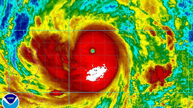 Earth's strongest storm of 2013, packing 160 mph winds, moving toward Hong Kong, Northern Philippines 650x366_09191334_usagisat