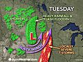 Powerful Autumn Storms to Lash Central US With Windswept Rain