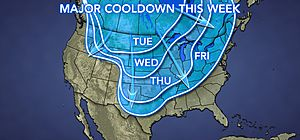 Snow, Cold to Spread From Canada to US This Week