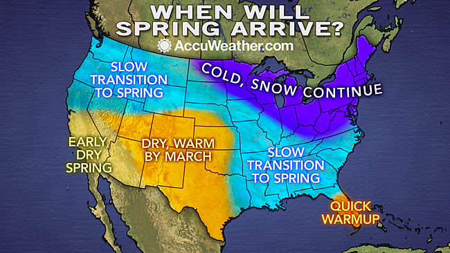 Spring Outlook: Six More Weeks of Winter to Grip Half of US