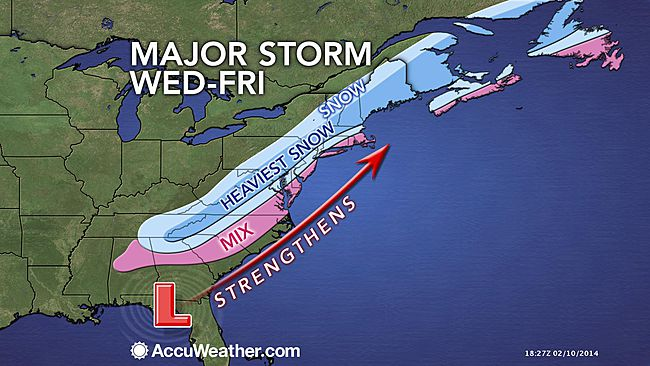Wind-Driven Snowstorm to Hammer DC, Philly, NYC and Boston