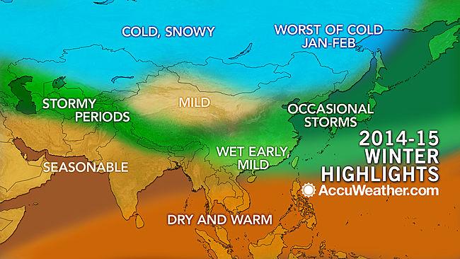 پیش بینی زمستان آسیا از نگاه AccuWeather: توفان از ترکیه تا ژاپن