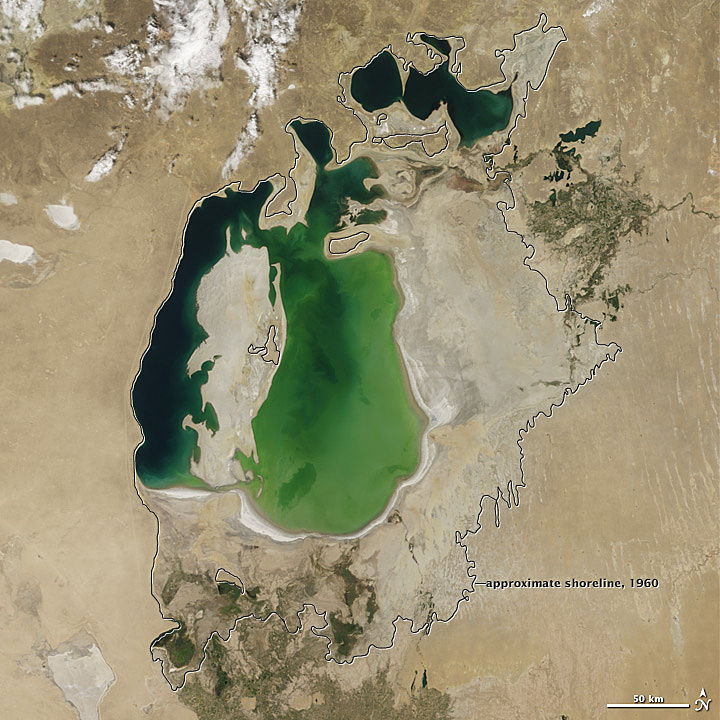 PHOTOS: Five of the World's Lakes at Risk of Drying Up Completely
