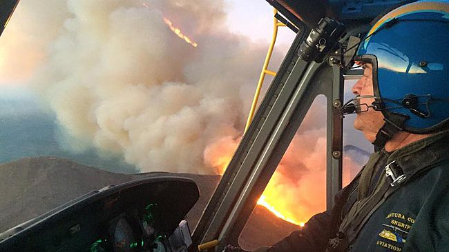 Wildfire partially shuts down California's scenic Highway 101