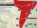 Rounds of severe weather to bombard central US this week