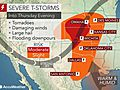 Severe storms, flash flooding to wallop central US into Memorial Day weekend