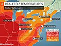 Stifling heat, humidity to surge into northeastern US Friday