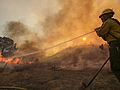 Western US: Diminishing heat to aid in firefighting efforts this week