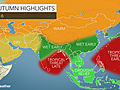 2016 Asia autumn forecast: Rain to provide drought relief in Southeast; Tropical cyclones to prowl Bay of Bengal