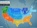 US winter forecast: Frequent snow to blast Northeast; Freeze may damage citrus crop in South