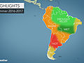South America summer forecast: Rain to ease drought in northern Brazil; Heat to scorch Argentina, Chile